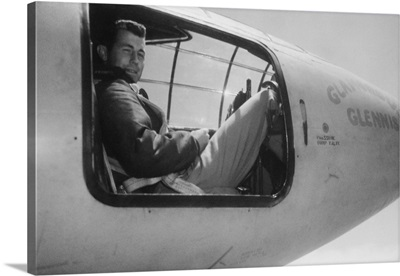 Captain Charles Yeager, in the cockpit of the Bell XS-1 supersonic research aircraft