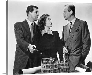 Cary Grant Myrna Loy And Melvyn Douglas In Mr Blandings