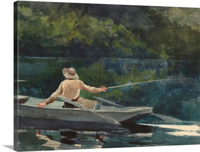 Casting, Number Two, by Winslow Homer, 1894, American painting