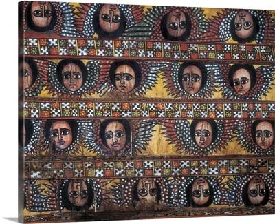 Ceiling roof of Debre Berhan Selassie Church, Ethiopia