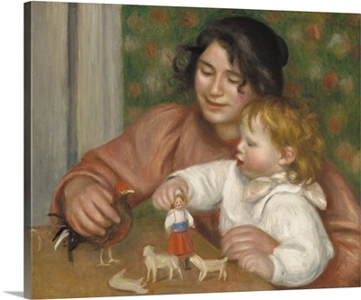 Child with Toys, Gabrielle and the Artist's Son, Jean, by Auguste Renoir