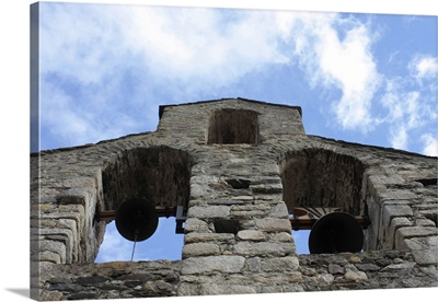 Church of Saint Esteve. Belfry with three windows. 12th c. Gerona, Spain