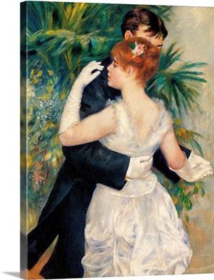 City Dance, By Pierre-Auguste Renoir, 1883. Musee D'Orsay, Paris, France. Detail