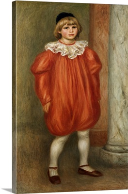 Claude Renoir in a Clown Costume. 1909. By Pierre-Auguste Renoir. Orangerie Museum