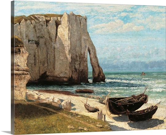cliff at etretat after the storm by gustave courbet 1870 musee d 39 orsay paris france wall. Black Bedroom Furniture Sets. Home Design Ideas