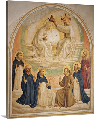 Coronation Of The Virgin, By Beato Angelico, 1438-1446. Florence, Italy