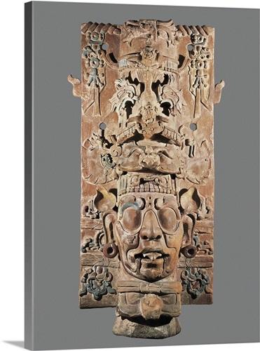 Cylinder with sun god. Mayan art Wall Art, Canvas Prints, Framed ...