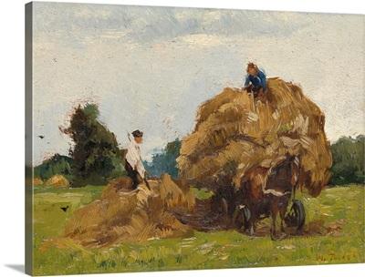 Daddy Longlegs, by Willem de Zwart, c. 1885-1910. Dutch painting, oil on panel