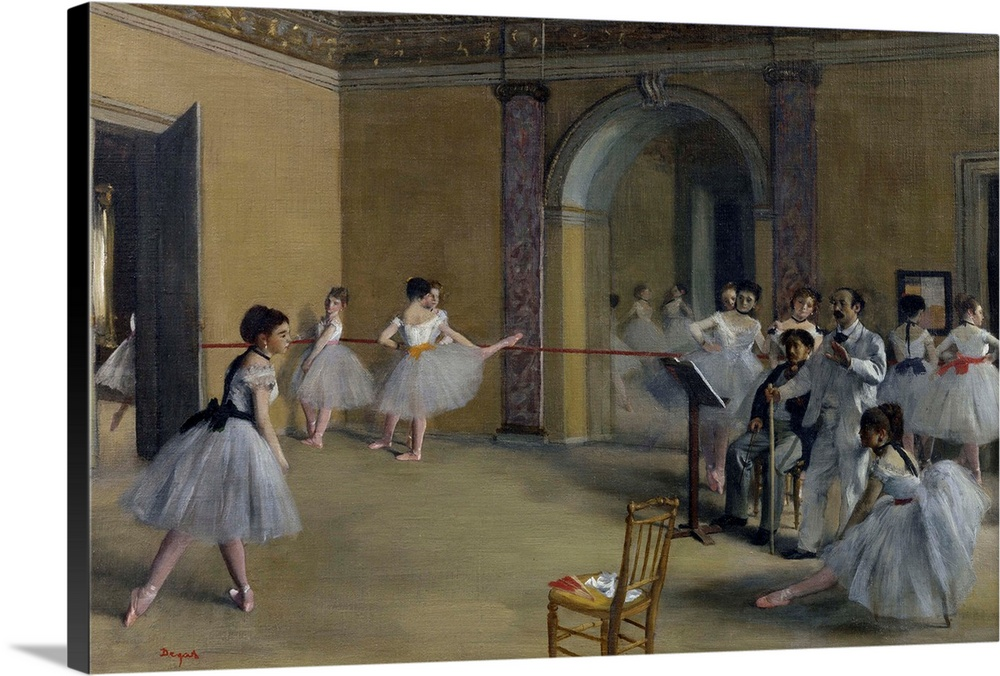 Art For Foyer : Dance foyer at the opera on rue le peletier wall art