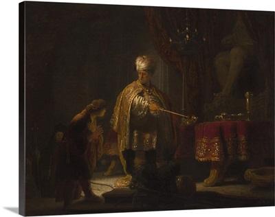Daniel and Cyrus Before the Idol Bel, by Rembrandt van Rijn, 1633