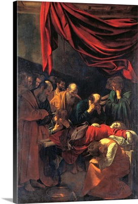 Death of the Virgin Mary, by Caravaggio, 1605-1606. Louvre, Paris, France