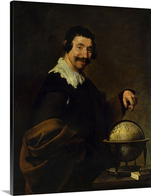 Democritus, or The Man with Globe, By Diego Velazquez, Rouen Museum of Fine Arts