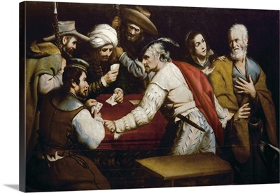 Denial of Saint Peter. 17th c. School of Caravaggio. Seville Cathedral. Spain