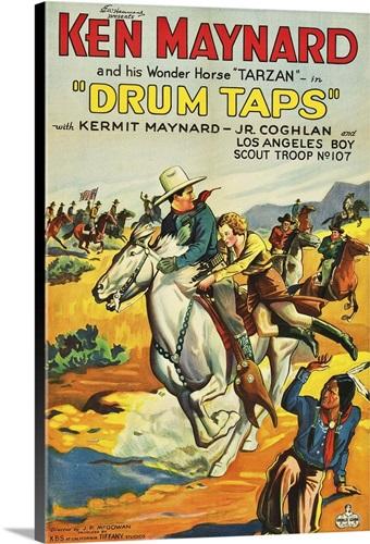 Drum Taps - Vintage Movie Poster Wall Art, Canvas Prints, Framed ...