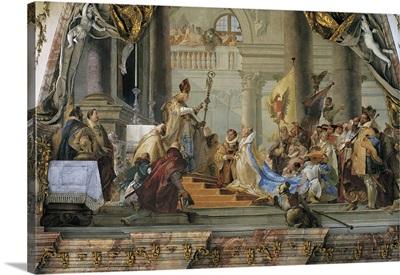 Emperor Frederick I Barbarossa and Beatrice I of Burgundy in 1156, 1751