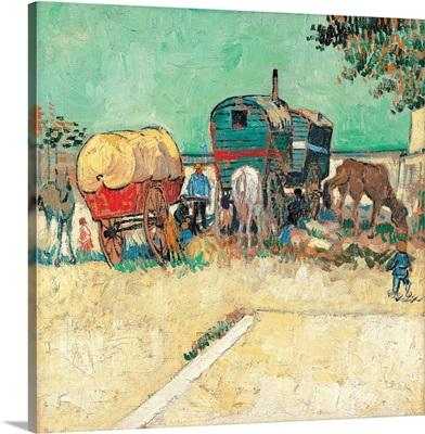 Encampment of Gypsies with Caravans, by Vincent Van Gogh, 1888. Musee d'Orsay, Paris