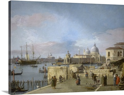 Entrance to the Grand Canal from the Molo, Venice, by Canaletto, 1742-44