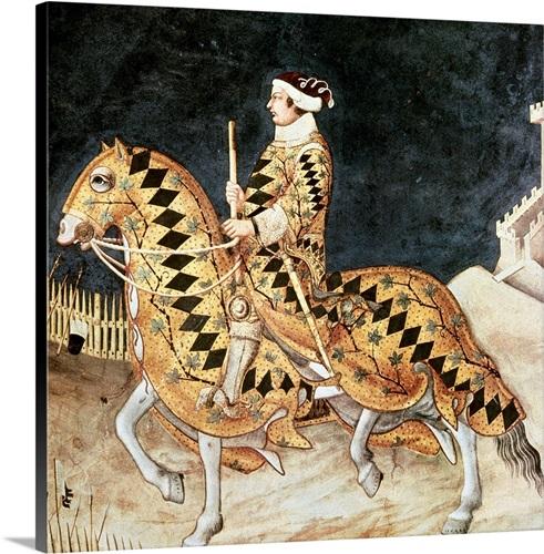 Equestrian portrait of Guidoriccio da Fogliano. 1328-30 Wall Art ...