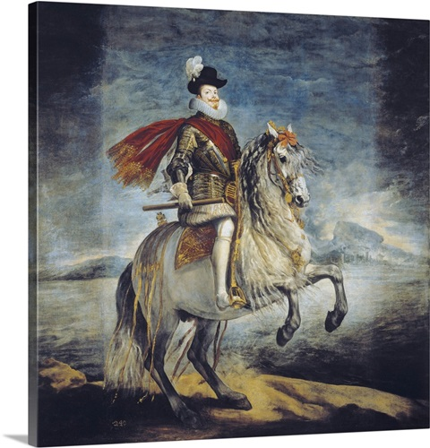 Equestrian Portrait of Philip III, 1629-35 Wall Art, Canvas Prints ...