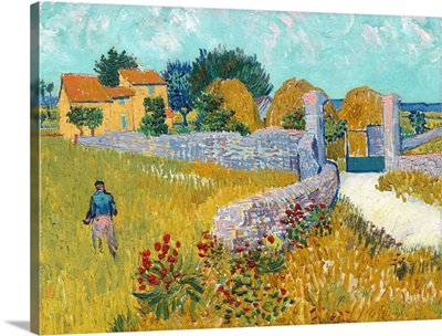 Farmhouse in Provence, by Vincent van Gogh, 1888