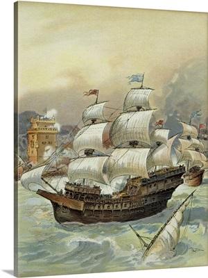Fleet of Jean Ango Blocks the Tagus and Threatens Lisbon