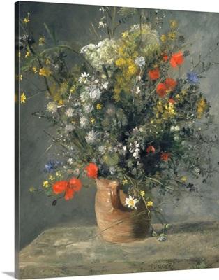 Flowers in a Vase, by Auguste Renoir, 1866