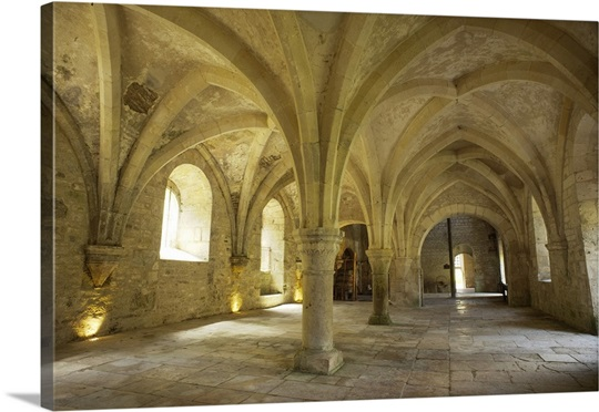 Fontenay Abbey Forging Hall With A Groin Vaults 12th C Bitis France