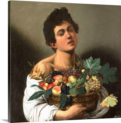 Fruit seller (Boy with Basket of Fruit), by Caravaggio, 1593