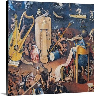 Garden Of Earthly Delights-Hell Music, C. 1503-04. Prado Museum. Spain