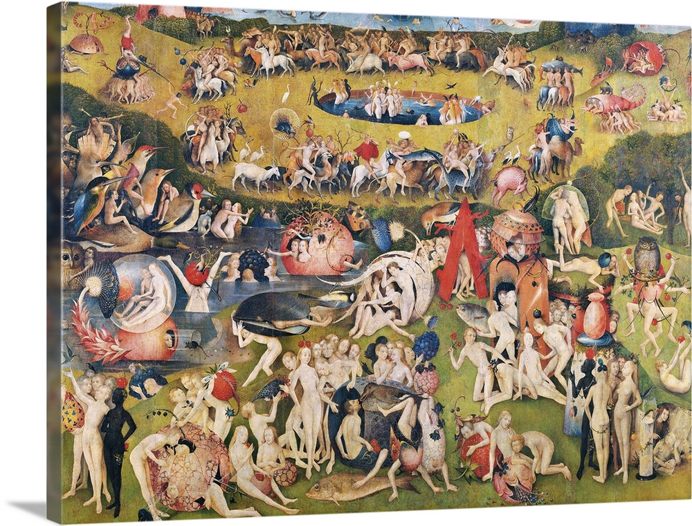 Garden of Earthly Delights, (Martyrs and Angels) by Hieronymus Bosch, c.  1503,04