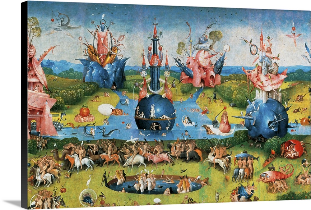 Garden Of Earthly Delights,(Martyrs And Angels) By Hieronymus Bosch, C.