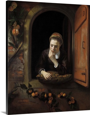 Girl at a Window, by Nicolaes Maes, 1650-1660