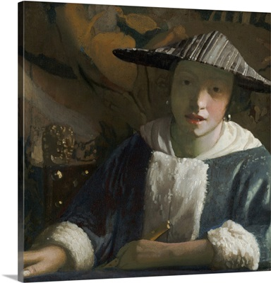 Girl with a Flute, by Johannes Vermeer, c. 1665-70