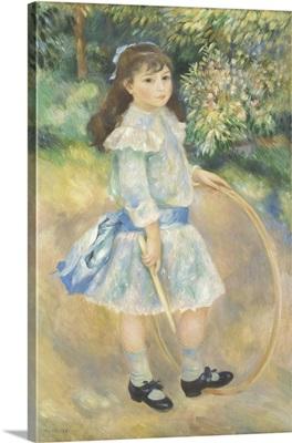 Girl with a Hoop, by Auguste Renoir, 1885
