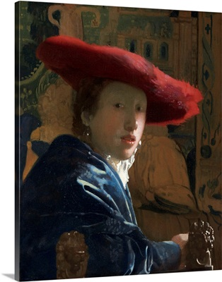Girl with the Red Hat, by Johannes Vermeer, c. 1665-66