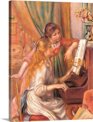 Girls at the Piano, by Pierre-Auguste Renoir, 1892. Musee d'Orsay, Paris, France