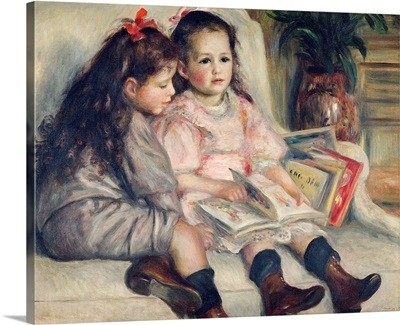 Girls Reading, By French Impressionist Pierre Auguste Renoir, c. 1880
