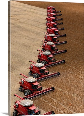 Group Of Harvesters