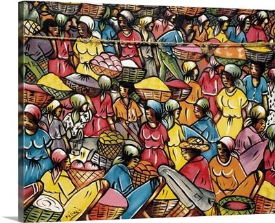 Haitian Market Scene