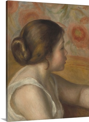 Head of a Young Girl, by Auguste Renoir, 1890