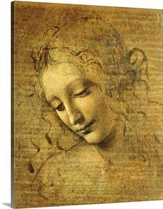 Head Of A Young Woman La Scapigliata By Leonardo Da Vinci