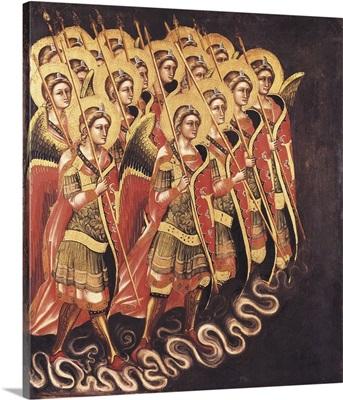 Heavenly Militia. ca. 1348 - 1354. Gothic art. Ridolfo Guariento