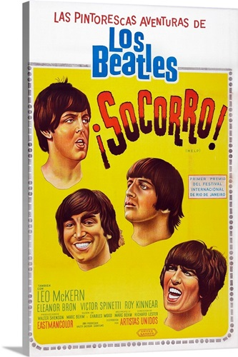 Help!, Argentinean Poster Art, The Beatles, 1965 Wall Art, Canvas ...