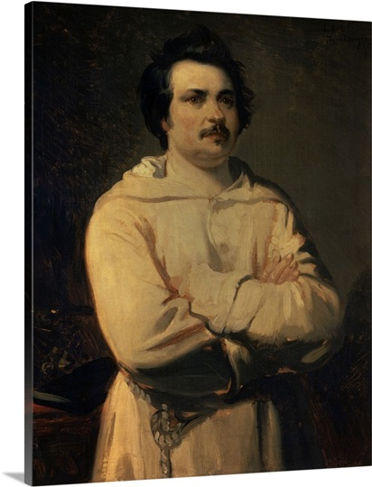 Honore De Balzac 1836 By Louis Boulanger French Oil On