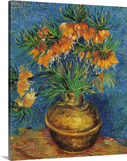 Favorite Imperial Crown Fritilaria in a Copper Vase, by Vincent Van Gogh  YQ22