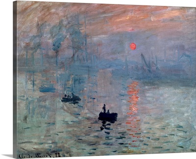 Impression, Sunrise, 1872, By French impressionist Claude Monet