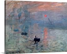 Impression, Sunrise, 1872, By French impressionist Claude Monet