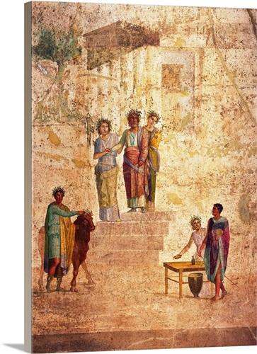 Jason And Pelias. Ancient Roman Fresco, c.20-25, Casa Di Giasone ...