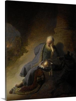 Jeremiah Lamenting the Destruction of Jerusalem, by Rembrandt, 1628