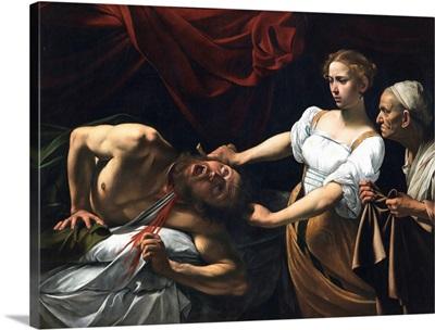 Judith Beheading Holofernes, by Caravaggio, c. 1598-1599. Palazzo Barberini, Rome, Italy